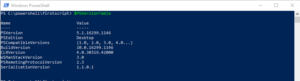 get powershell version