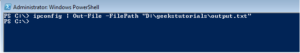 Write PowerShell command output to text file