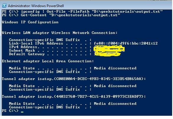 Write output to CSV file using PowerShell