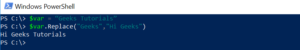 Replace String in PowerShell