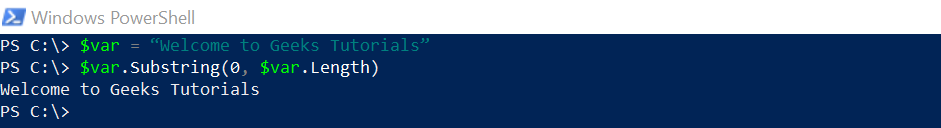 SubString in PowerShell