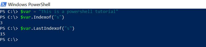Lastindexof string in PowerShell