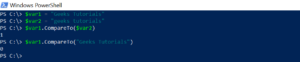 Compare String in PowerShell
