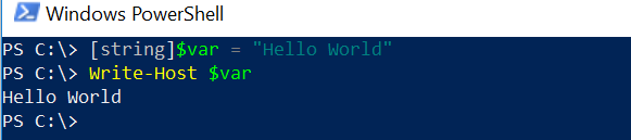 String in PowerShell