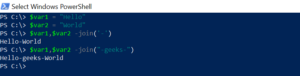 join string in PowerShell