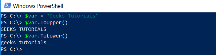 to Lower string in PowerShell