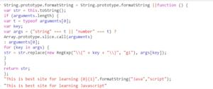 format string in JavaScript