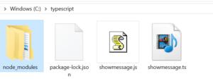 Complied typescript to JavaScript