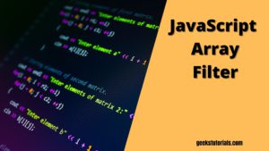 JavaScript Array Filter