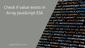 Check if value exists in array JavaScript ES6