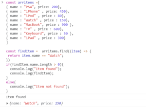 Check if value exists in array JavaScript using find method