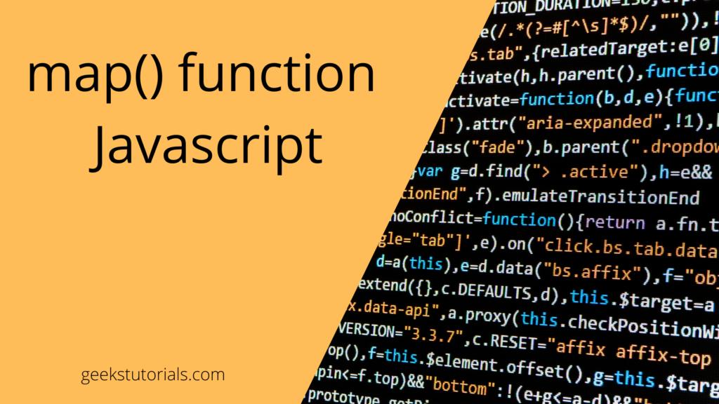 map function in javaScript